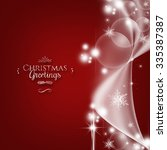 merry christmas greeting card... | Shutterstock . vector #335387387