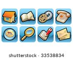 set of 8 icons  web oriented ... | Shutterstock .eps vector #33538834