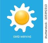 fried egg vector illustration.... | Shutterstock .eps vector #335392313