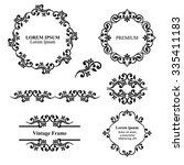 design elements  vintage... | Shutterstock .eps vector #335411183