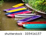 Colorful Punts On The River...