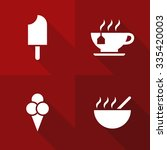 vector flat icons   gastronomy