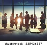 business people communication... | Shutterstock . vector #335436857