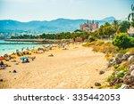 view of the beach of palma de... | Shutterstock . vector #335442053