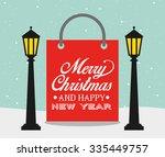 happy merry christmas design ... | Shutterstock .eps vector #335449757