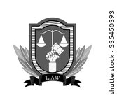 justice and law design  vector... | Shutterstock .eps vector #335450393