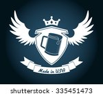 made in usa design  vector... | Shutterstock .eps vector #335451473
