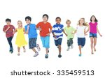 children running playing... | Shutterstock . vector #335459513