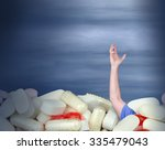 a huge pile of various pills... | Shutterstock . vector #335479043