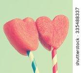 closeup of watermelon heart... | Shutterstock . vector #335488337