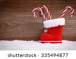 christmas background with... | Shutterstock . vector #335494877