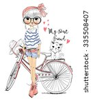 cute girl | Shutterstock .eps vector #335508407