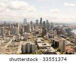 seattle skyline | Shutterstock . vector #33551374