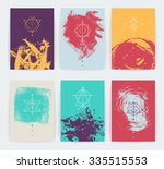 set of vector geometric alchemy ... | Shutterstock .eps vector #335515553