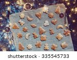 making the christmas cookies | Shutterstock . vector #335545733