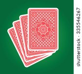 playing cards back  | Shutterstock .eps vector #335546267