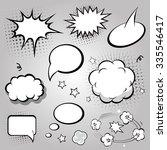 comic speech bubbles. vector... | Shutterstock .eps vector #335546417