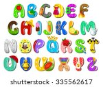 colorful children's alphabet | Shutterstock .eps vector #335562617