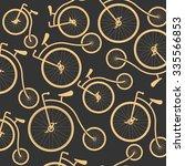 vintage retro bicycle... | Shutterstock .eps vector #335566853