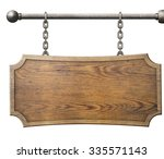 Wood Sign Hanging On Chain...