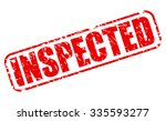 inspected red stamp text on...   Shutterstock .eps vector #335593277