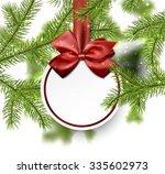 christmas card with fir...   Shutterstock .eps vector #335602973