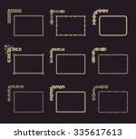 raster calligraphic frames set. ... | Shutterstock . vector #335617613