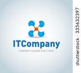 technology it company logo... | Shutterstock .eps vector #335632397