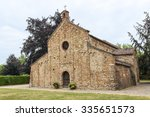 Small photo of Viguzzolo (Alessandria, Piedmont, Italy): medieval church of Santa Maria, in Romanesque style, built in the 11th century