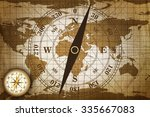 vintage travel manuscript with... | Shutterstock . vector #335667083