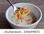 conflake with milk in the... | Shutterstock . vector #335699873