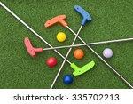 assorted miniature golf putters ... | Shutterstock . vector #335702213