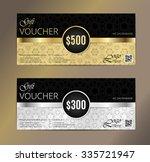 voucher set  gift certificate ... | Shutterstock .eps vector #335721947