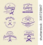 epilepsy awareness month hand... | Shutterstock .eps vector #335725847