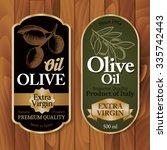 vintage olive oil labels on... | Shutterstock .eps vector #335742443