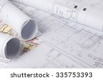 architectural blueprints and... | Shutterstock . vector #335753393