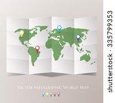 world map vector illustration. | Shutterstock .eps vector #335799353