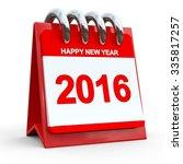 3d red calendar 2016 | Shutterstock . vector #335817257