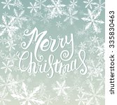 vector merry christmas card... | Shutterstock .eps vector #335830463