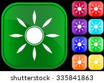 sun symbol on shiny square... | Shutterstock .eps vector #335841863