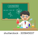 laboratory researcher  ... | Shutterstock .eps vector #335845037