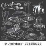 Hand Drawn Christmas Menu On...