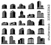 buildings icons vector | Shutterstock .eps vector #335852063