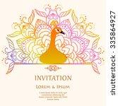 elegant festive card with... | Shutterstock .eps vector #335864927