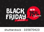 black friday sale inscription... | Shutterstock .eps vector #335870423