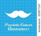 white mustache on blue ribbons...   Shutterstock .eps vector #335877167