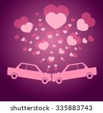 vector valentine greeting card... | Shutterstock .eps vector #335883743