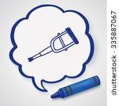 doodle crutch | Shutterstock . vector #335887067