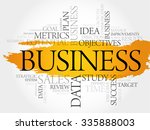 business word cloud  business... | Shutterstock .eps vector #335888003