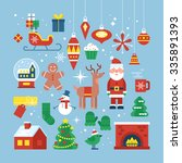 Christmas Holiday Flat Stylish...